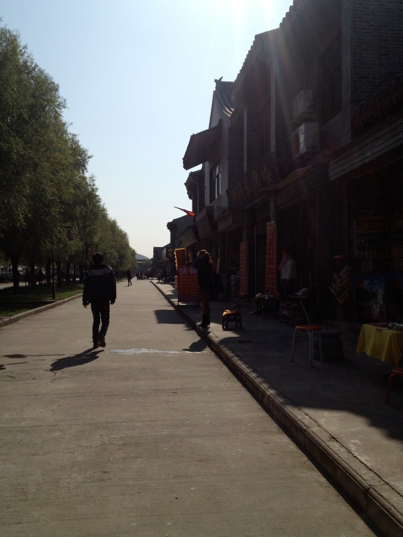 the street going to Longmen Grottoes