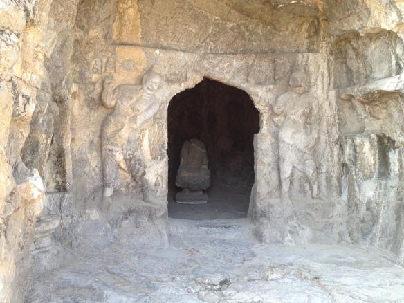 a Buddha cave