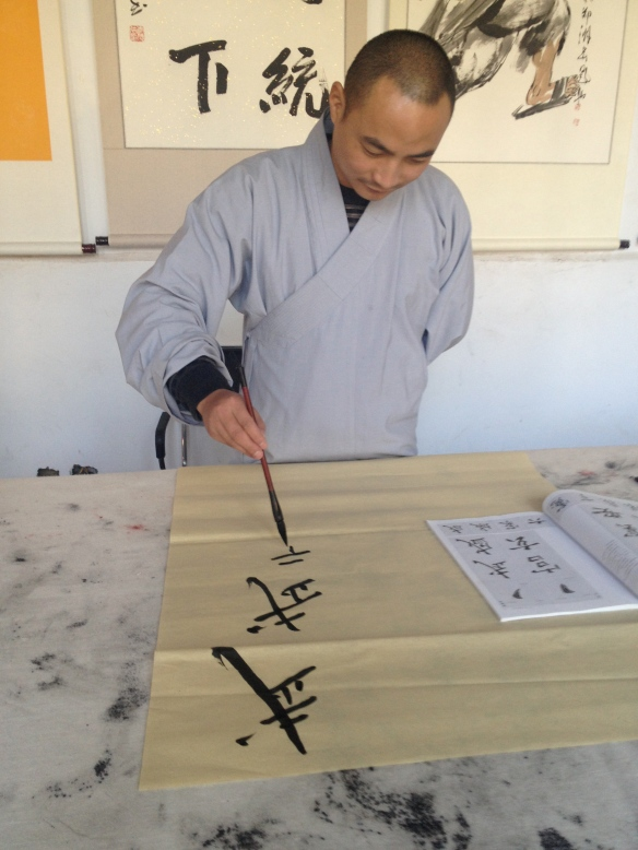 a calligraphy lesson